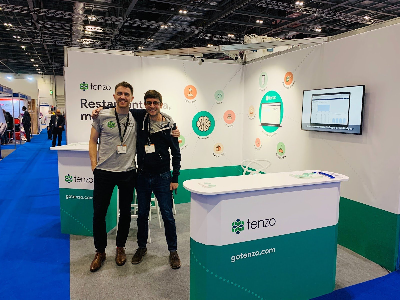 Tenzo stand at Restaurant Tech Live where we learnt all the new 2020 tech trends